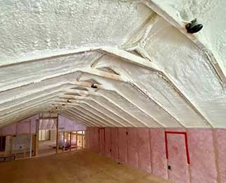 2lb foam closed cell SPF attic vault ceiling minnesota 321 Northland Spray Foam Insulation Contractor Minnesota Northland Spray Foam Insulation Longville MN