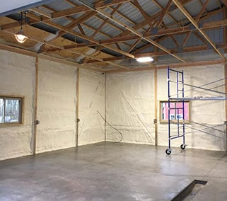 industrial spray foam insulation metal building insulation minnesota Northland Spray Foam Insulation Contractor Minnesota Northland Spray Foam Insulation Longville MN